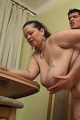 Morbidly obese woman gets fucked from behind