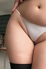 Plump Asian schoolgirl masturbates after class