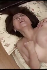 Twisting her own nipples during taboo fucking