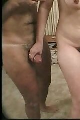 Hairy cunt babe wants a piece of that young meat
