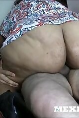 Big booty Mexican babe riding a fat boner