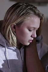 Taboo stepfamily scene with a horny blonde