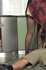 Mature lady easily seducing a well-endowed plumber