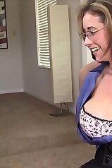 Naughty MILF in glasses angling for a sex sesh