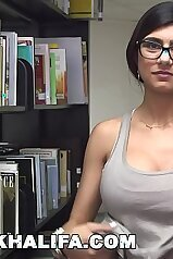 MIA KHALFIA Arab Goddess Strips Naked In A Library Just For You