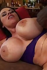Big boobs brunette is now addicted to black cock
