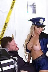 Must see deep double anal penetration for naughty Police Officer Mia Linz