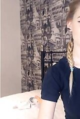 Exciting solo webcam video with a blonde angel