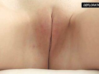 Dunja Kazimkina masturbating and showing pussy