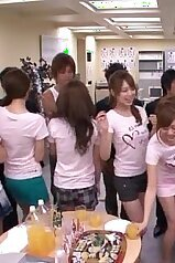 Japanese chicks prepping for a wild, wild orgy