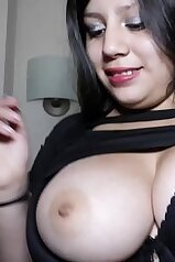 18-year-old Latin bitch showing her big boobies