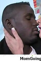 Blonde mom dominated by a huge black cock