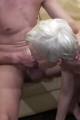 Old lady gets destroyed in a kinky porno movie