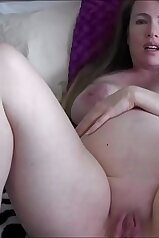 Preggo mommy masturbating to her son\'s body