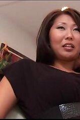 Bodacious Asian chick enjoying interracial sex