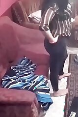 Spycam footage from a young couple\'s living room
