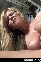 Mommy is happy to get gaped by a huge black dick