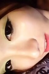 Chinese babe with smoky eyes wants a big dick