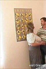 Big-boobed granny is having fun with her boyfriend