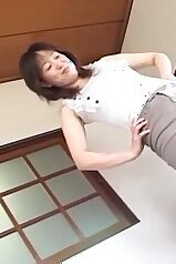 Japanese doll and her submissive young boyfriend