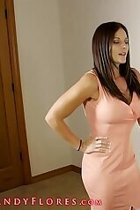 Mommy in a sexy dress demonstrates her good body
