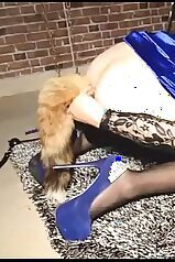 Female domination sex game with a passionate doll