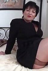 BBW angel in stockings plays with her hungry crack
